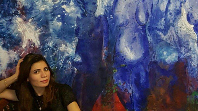 الفنانة التشكيلية لورین علي..أعمالي هي بمثابة رسالة للإنسانیة