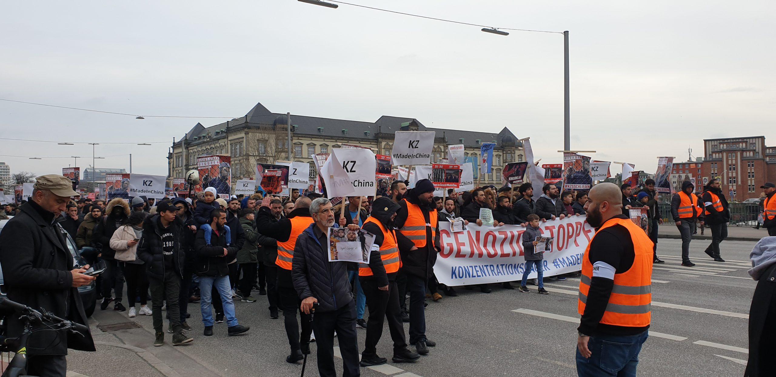 الجالية المسلمة في هامبورغ تتظاهر من أجل مسلمي الأويغور
